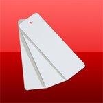Bílá plastová visačka 37mm x 115mm (100ks) (CVT37X115)