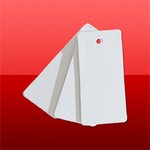 Bílá plastová visačka 38mm x 80mm (100ks) (CVT38X80)