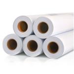 POLYPRINTmedia / Polymer bílý lesklý - Bubble free, 80 mic, šedé lepidlo (role 1,37 x 50 m