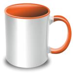 PixMaster / Hrnek bílo-oranžový_300ml