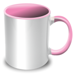 PixMaster / Hrnek bílo-růžový_300ml
