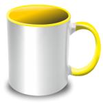 PixMaster / Hrnek bílo-žlutý_300ml