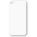 PixMaster / Kryt zadní (guma)_bílý_iPhone 4, 4S včetně plechu pro potisk