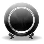 PixMaster / Kovový tácek_průměr 105mm včetně MINI stojánku