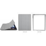 PixMaster / Pouzdro/obal magnetické na iPad 2, 3_ŠEDÁ včetně plechu na potisk