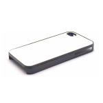 PixMaster / Kryt zadní (guma)_černý_iPhone 4, 4S včetně třpytivého plechu pro potisk