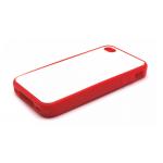 PixMaster / Kryt zadní (guma)_červený_iPhone 4, 4S včetně plechu pro potisk