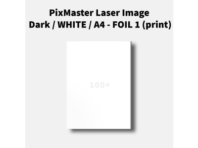 PixMaster Laser Image Dark / WHITE / A4 - FOIL 1 (print)
