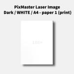 PixMaster Laser Image Dark / WHITE / A4 - paper 1 (print)
