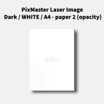 PixMaster Laser Image Dark / WHITE / A4 - paper 2 (opacity)