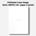 PixMaster Laser Image Dark / WHITE / A3 - paper 1 (print)